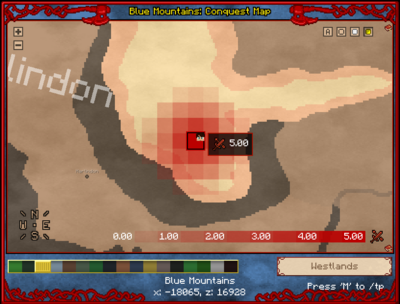 Red colour indicates positive effects on your own faction