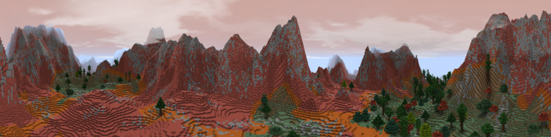 Panorama Red Mountains