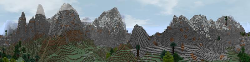 Panorama Grey Mountains