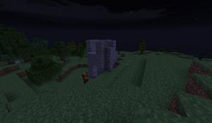 Small Stone Ruins - Bar Tower at night PB28