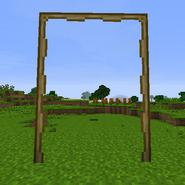 An open gate.
