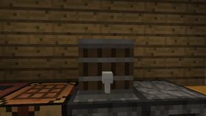 Barrel on a furnace