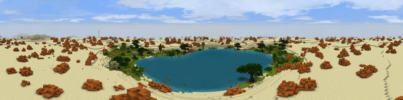 Panorama Near Harad Oasis