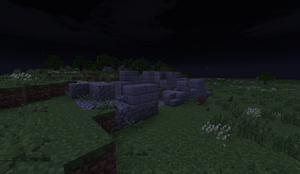 Small Stone Ruins - Wall at night PB28