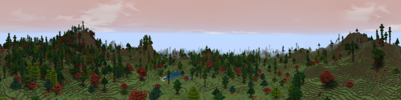 Panorama Red Mountains Foothills
