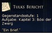 Tulks Bericht