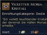 Violetter Moria-Kristall