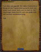 Tulks Bericht Text