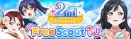 2nd Anniversary Free Scout 10 (Gacha)