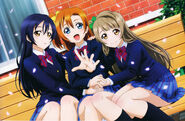 Umi Honoka Kotori Animedia Jan 2013 Textless