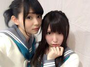 Suwa Nanaka + Aina Suzuki 14 Apr 2017