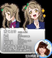 Minami Kotori Character Profile