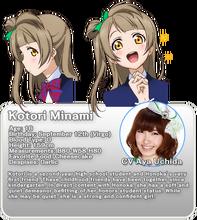 Minami Kotori Character Profile (Official Translation)