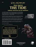 Alone Against the Tide back cover