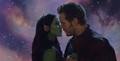 Star Lord & Gamora Almost Kiss