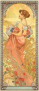 Mucha Seasons Summer 1900