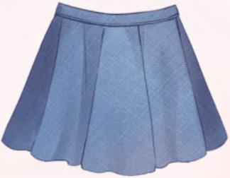 Blue Short Skirt