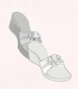 Gem Sandals-Silver