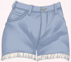 Casual Shorts-Blue