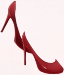 Leather High Heels-Red