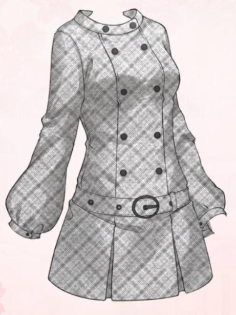 Gray Plaid Coat