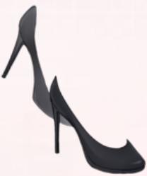 Leather High Heels-Black