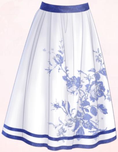 Blue Porcelain-Skirt