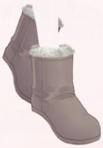 Short Snow Boots-Gray