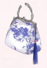 Blue Porcelain-Bag