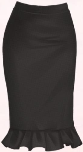 Black Fishtail Skirt