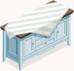 Sea Breeze Wooden Cabinet