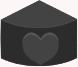 Fan-shaped Brick-Black