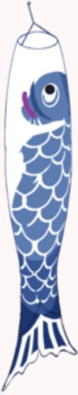 Blue Koinobori