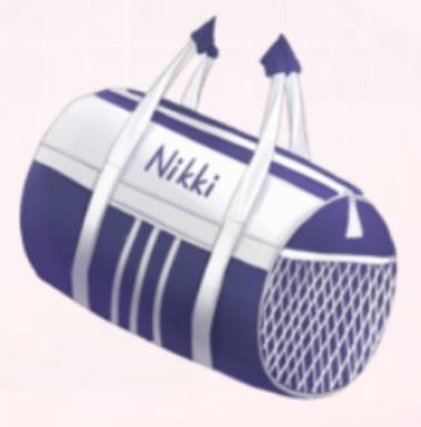 Barrel Sports Bag-Blue
