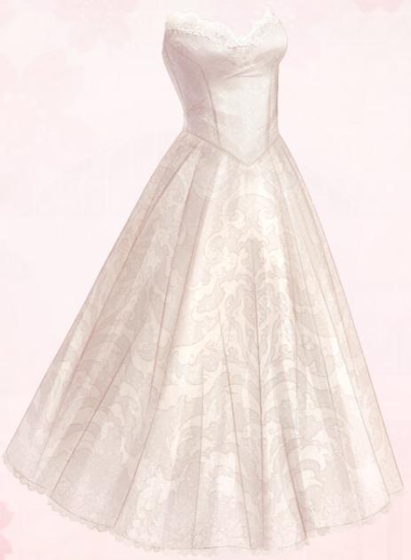 Branch Pattern Gauze Dress