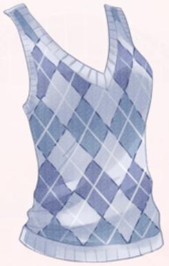Knit Vest-Blue