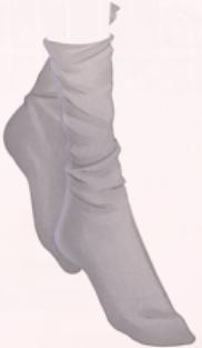 Grey High Waist Socks