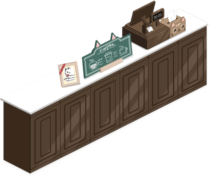 Black Chocolate Reception Desk