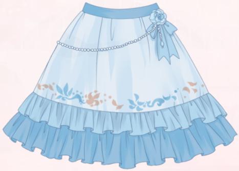Blue Purity-Skirt