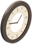 Glowing Clock