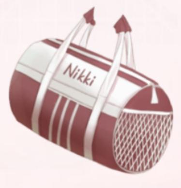 Barrel Sports Bag-Red
