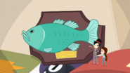 A mounted fish