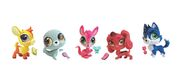 Pygmy Goat, Seal, Wallaby, Dashund and Husky toys