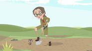 Tess with a groundhog