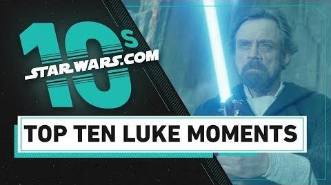 Top 10 Luke Skywalker Moments The StarWars