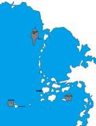 Nord America - Iceback Islands - Settlements