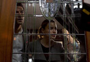 112 promo Lucifer Chloe through stained glass