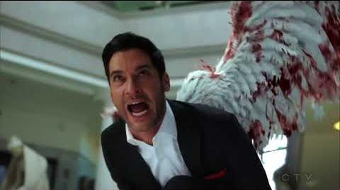 Lucifer S03E24 HD Ending Scene Lucifer Fight Using his Wings
