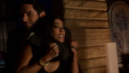 Michael subdues Mazikeen after she refuses to aid him any longer