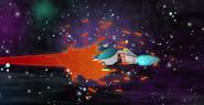 S1E49 Brains' ship is hit